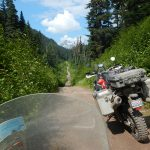 Telkwa Pass on motorcycle