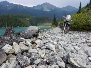 Telkwa Pass on motorcycle
