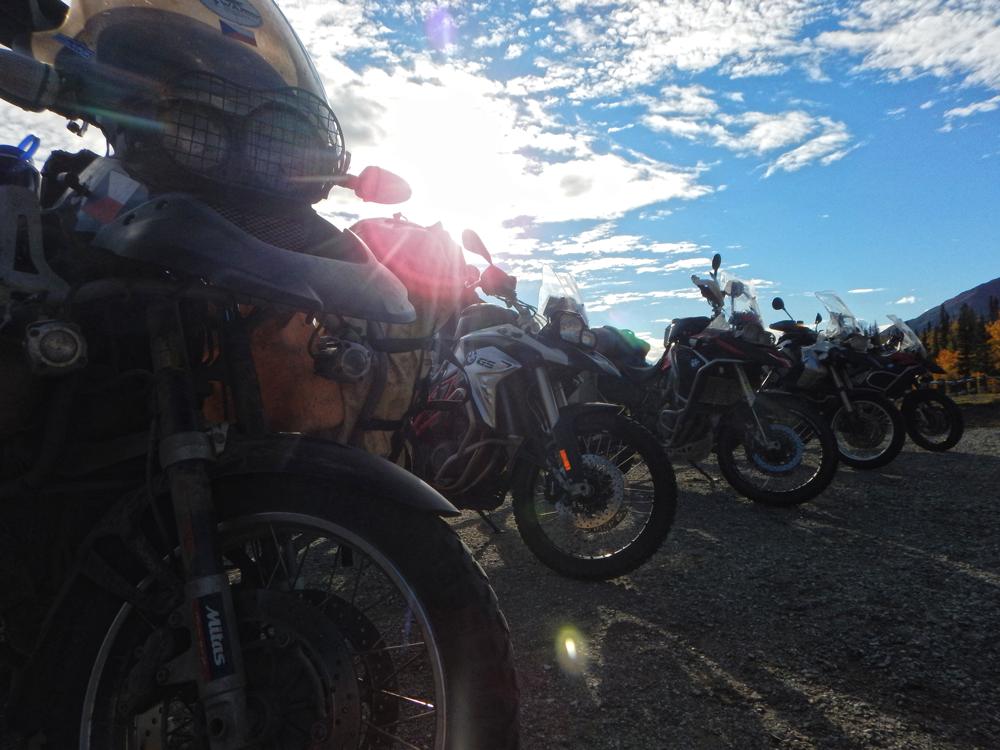 Alaska, Valdez, motorcycles