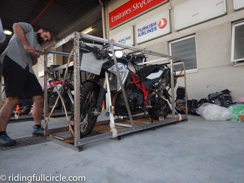 motorcycle crating and shipping
