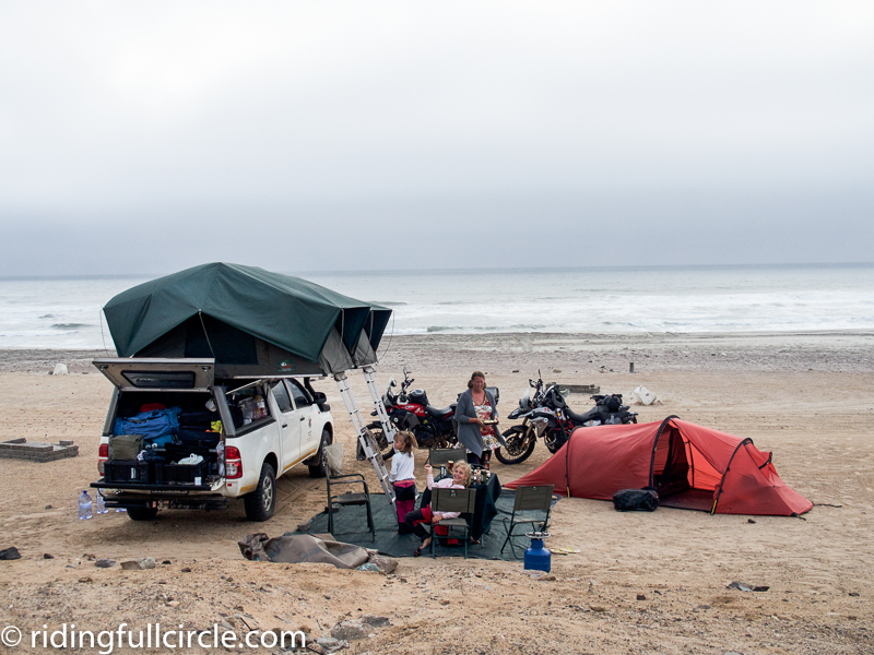 Skeleton Coast, Namibia, hilleburg tents