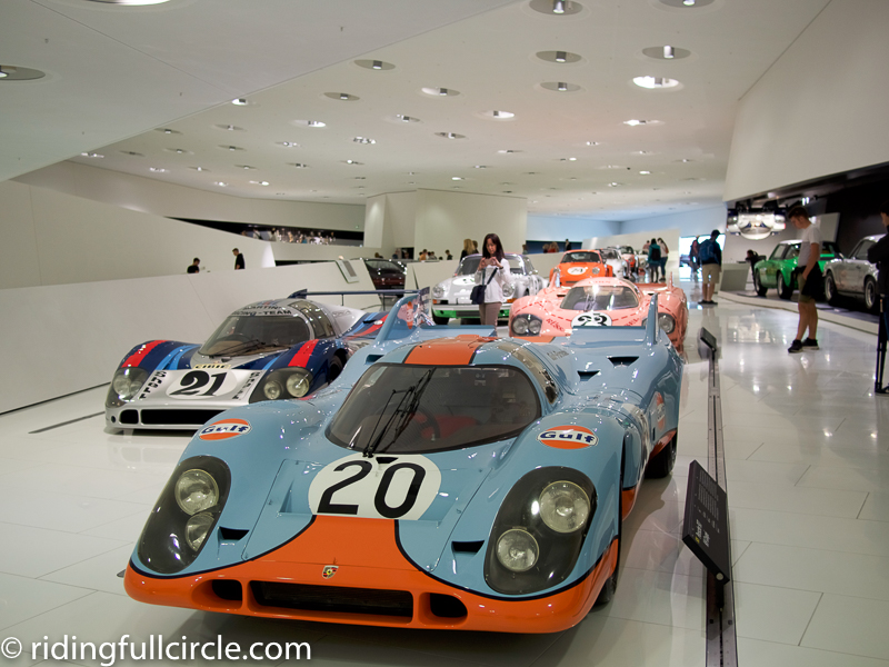 porsche museum riding full circle heather lea dave sears stuttgart germany