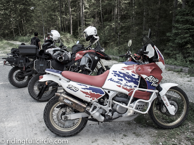 austria Wildalpen heather lea dave sears riding full circle africa twin