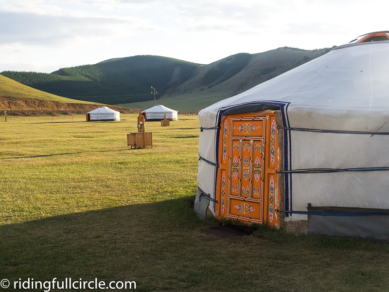 riding full circle heather lea dave sears motorcycle round the world adventure mongolian yurts gers