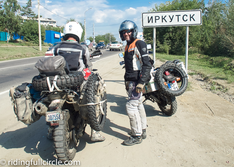 riding full circle heather lea dave sears motorcycle travels irkutsk russia lake baikal