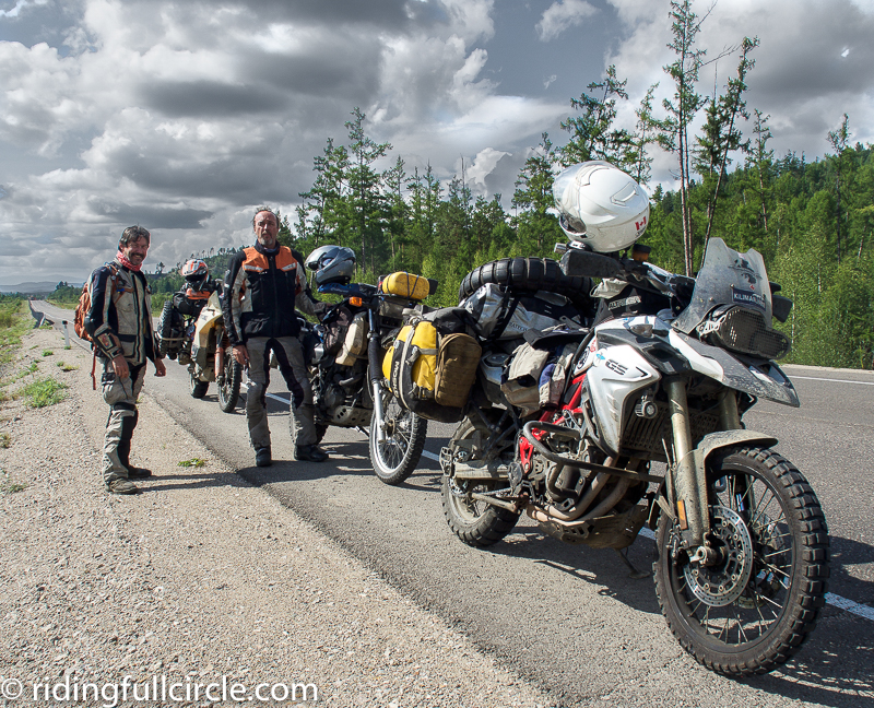 riding full circle tynda russia BAM road adventure team latvia