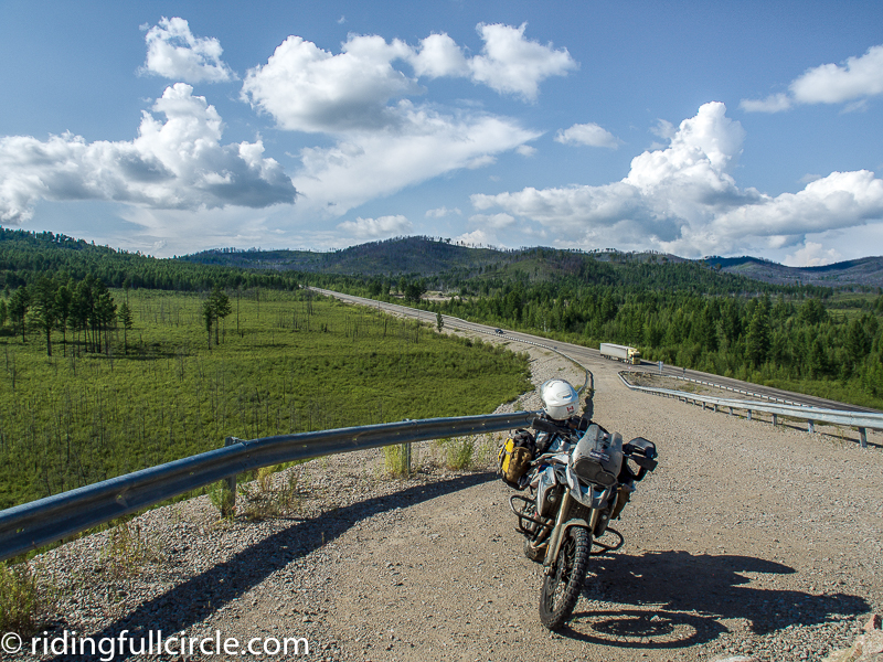 riding full circle tynda russia BAM road adventure team latvia Trans Siberian